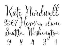 Kate Nordwell Custom Stamp