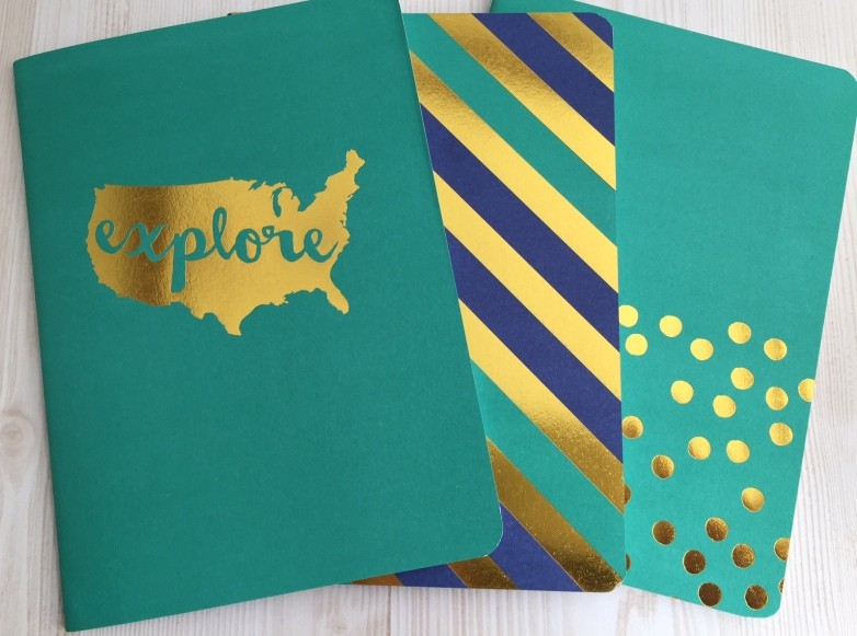 Teal and Navy Notebooks