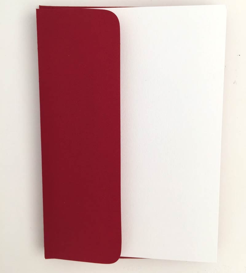 White Notecards with Red Envelopes