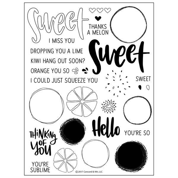 Concord and 9th  Orange You Sweet Clear Stamp Set