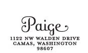 Paige Custom Stamp