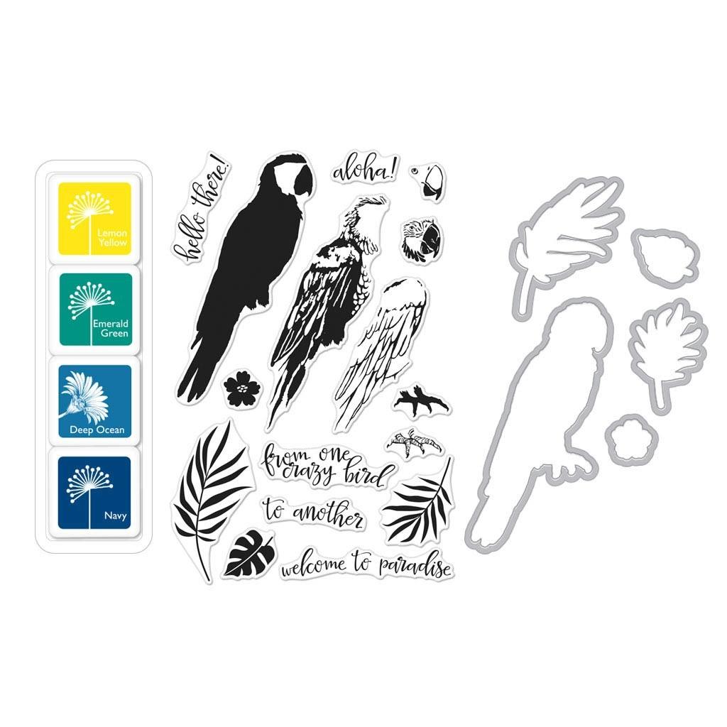 Hero Arts' Color Layering Parrot Bundle