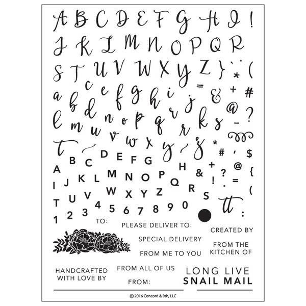 Perfectly Penned Clear Stamp Set