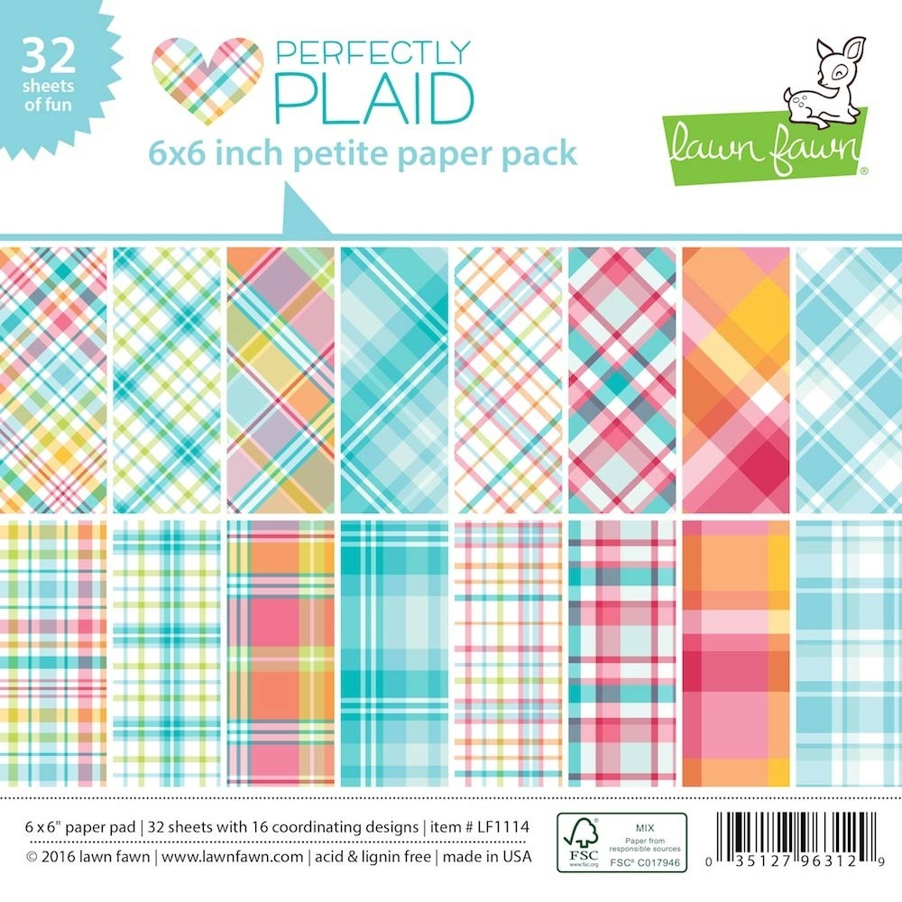 Lawn Fawn Perfectly Plaid 6x6 Paper Pack