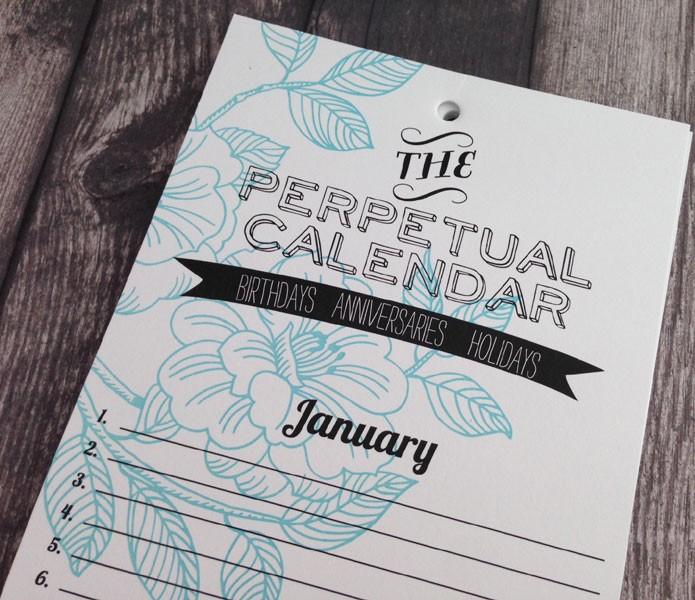Impress Perpetual Calendar