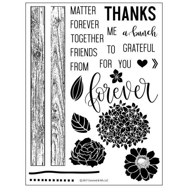 Concord and 9th Petals & Pallets Clear Stamp Set