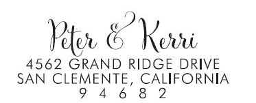 Peter & Kerri Custom Stamp