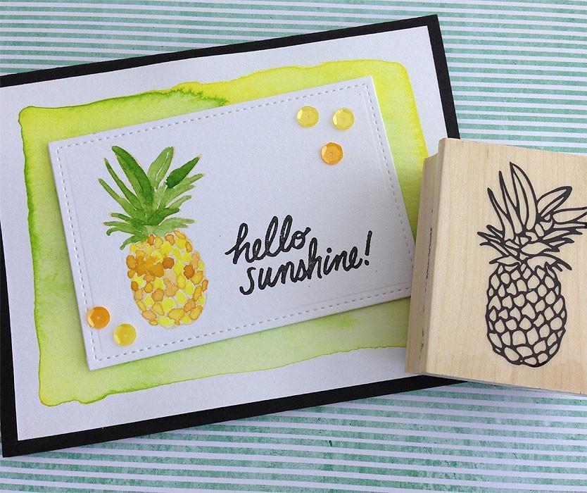 Hero Arts Pineapple Stamp