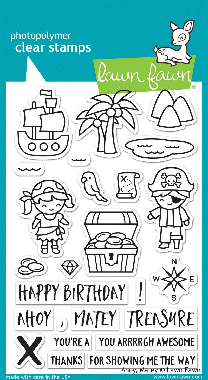 Lawn Fawn Ahoy, Matey Clear Stamp Set