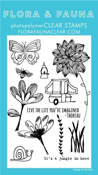 Flora & Fauna Pop Up Camper Clear Stamp Set