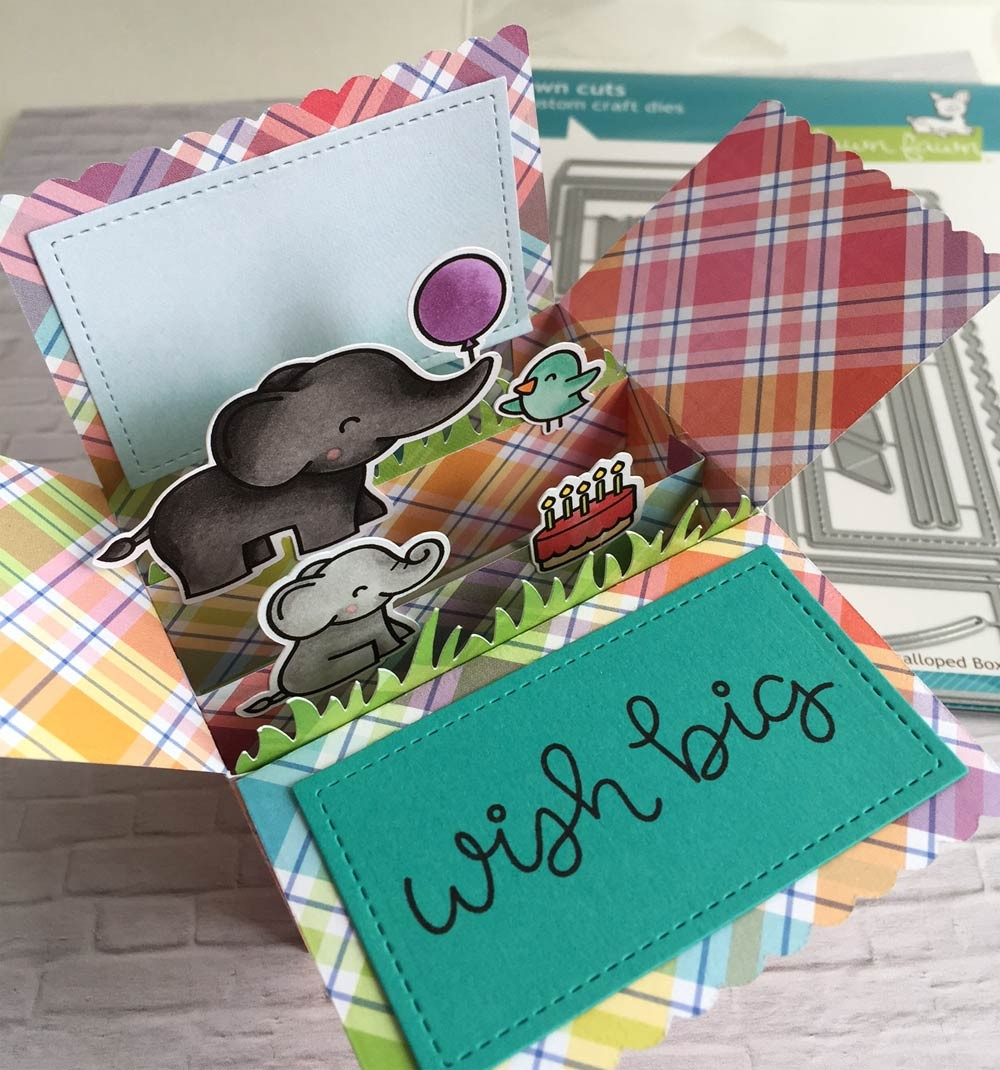 Lawn Fawn Scalloped Box Card Pop-up