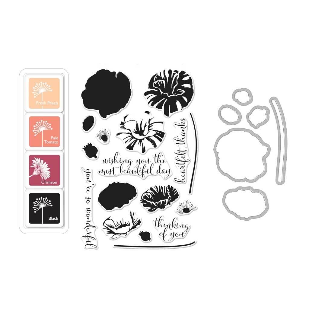 Hero Arts Color Layering Poppy Bundle