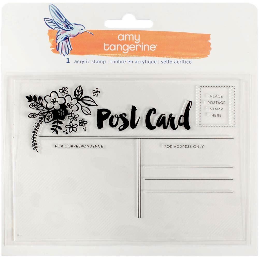 Amy Tangerine Postcard Stamp