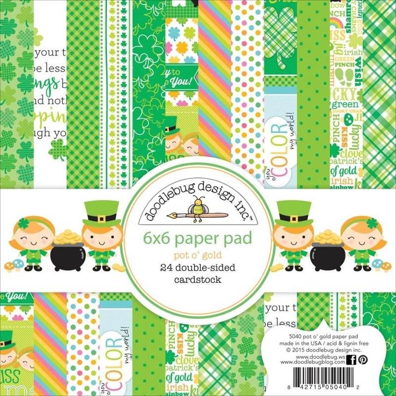 Doodle Bug Pot O' Gold 6x6 Paper Pad