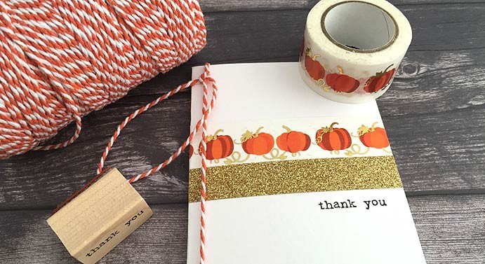 Pumpkin Foil Washi Tape