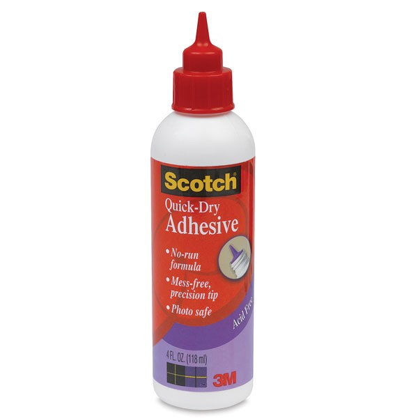 3M Scotch Quick Dry tacky adhesive