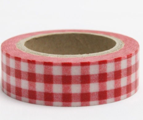 Red Gingham Washi Tape