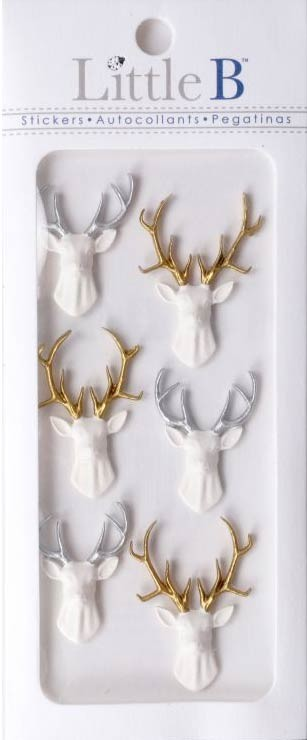 Deer Head Stickers
