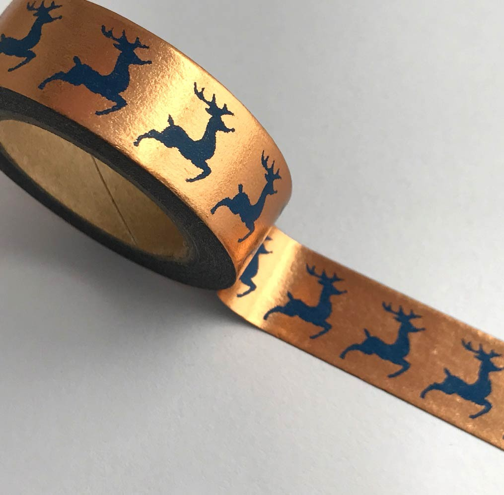 Navy Reindeer Washi Tape