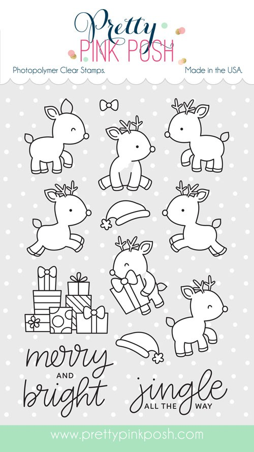 Prety Pink Posh Reindeer Friends Stamp Set