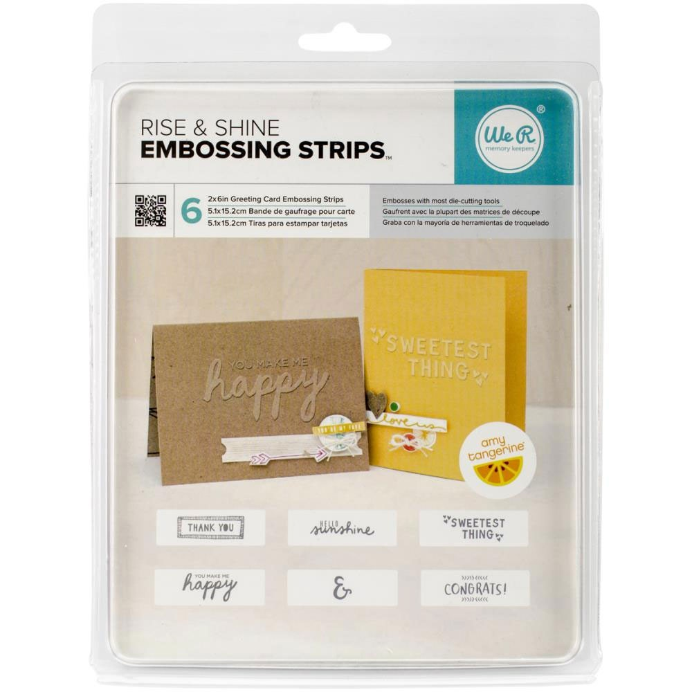 Rise and Shine Embossing Strips