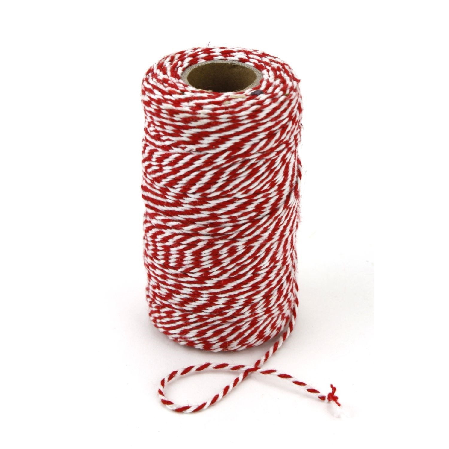 Red and White Chunky Twine Bolt