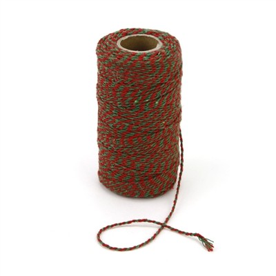 Red and Green Chunky Twine Bolt
