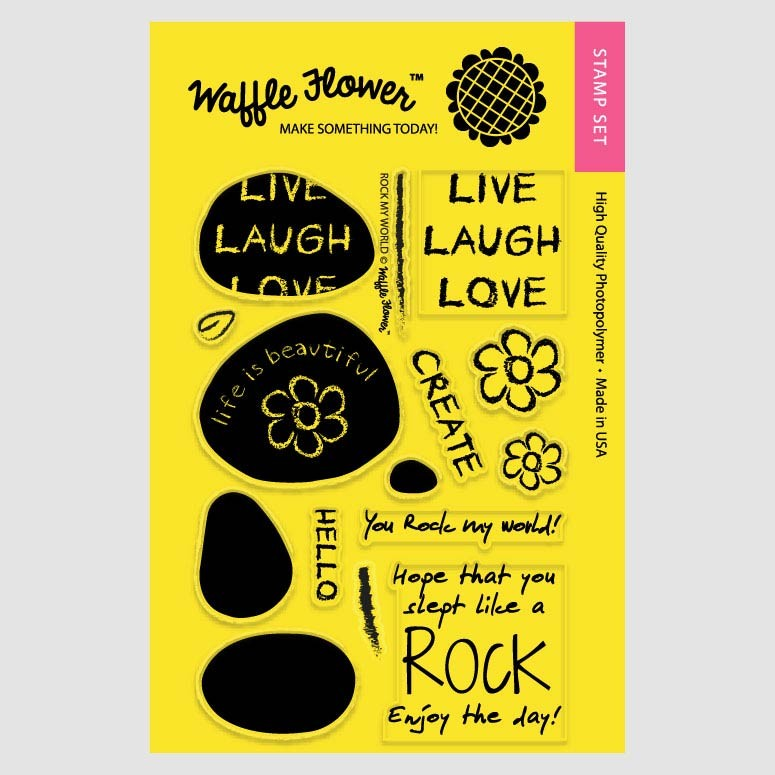 Waffle Flower Rock My World Clear Stamp Set