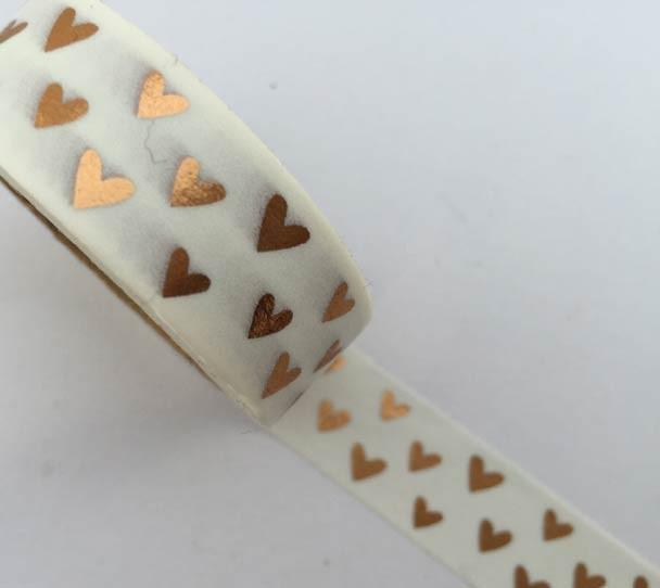 Rose Gold Hearts Washi Tape
