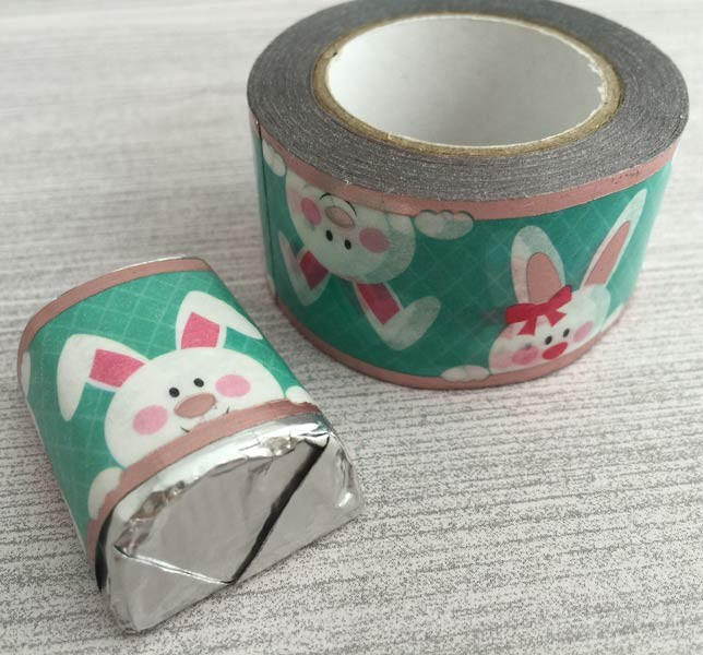 Rose Gold Foil Bunnies Washi Tape