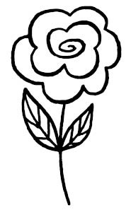 5673E - rosey rubber stamp