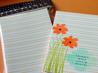 Savvy Orange Stripe Cards