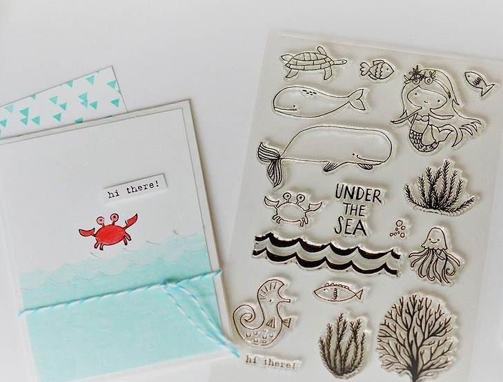 Flora & Fauna Under the Sea Clear Set