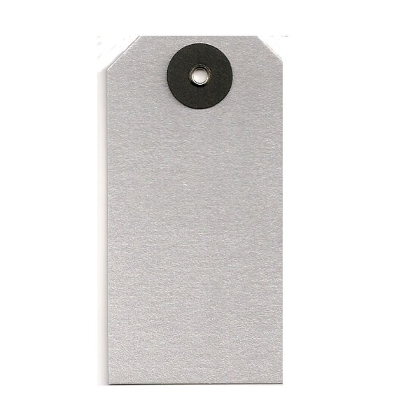 Silver Metallic Tags