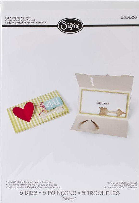 Sizzix Hearts and Arrow Card with Folding Closure