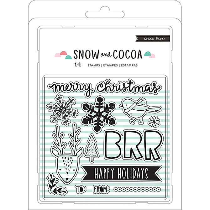 Snow and Cocoa Clear Stamp Set