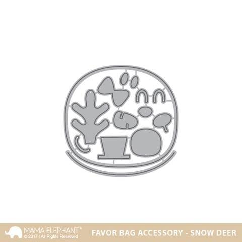 Mama Elephant Favor Bag Accessory - Snow Deer