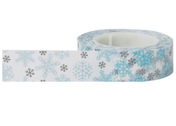 Blue and Gray Snowflake Washi Tape