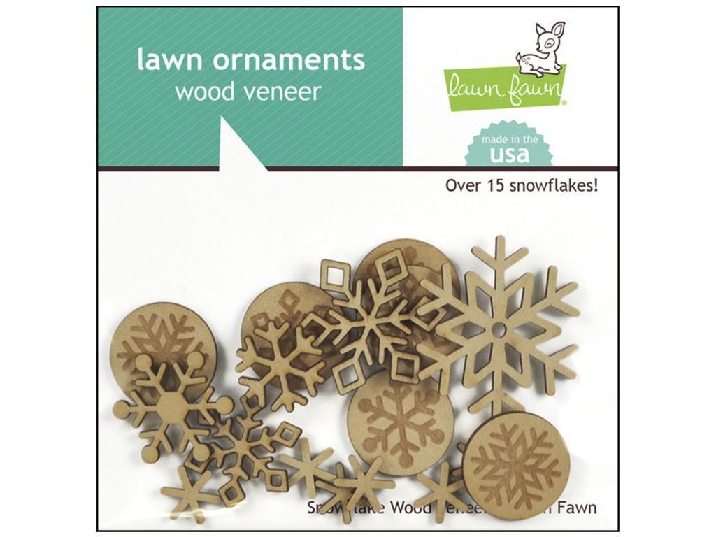 Wood veneer Snowflakes