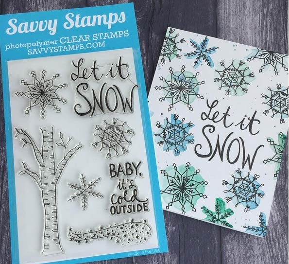 Savvy Let it Snowflake Clear Set