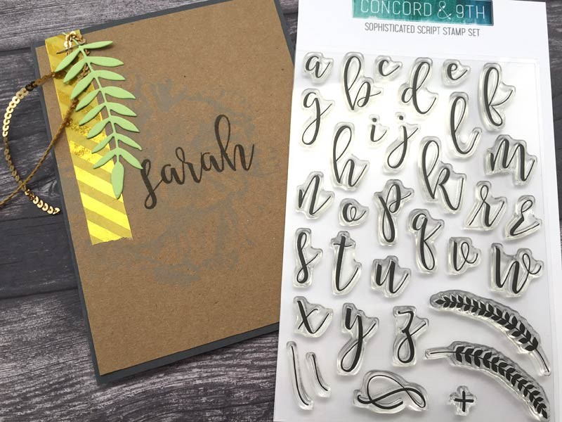 Sophisticated Script Stamp Set