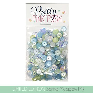 Pretty Pink Posh Spring Meadow Sequins
