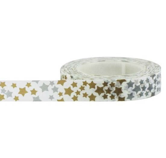Gold and Silver Stars Washi Tape