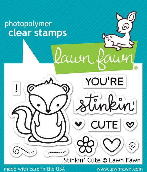 Lawn Fawn Stinkin' Cute Clear Stamp Set
