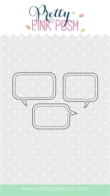 Pretty Pink Posh Stitched Speech Bubbles