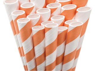 Paper Straws - orange