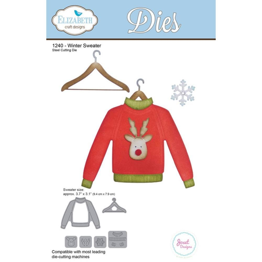 Elizabeth Craft Designs Winter Sweater Die