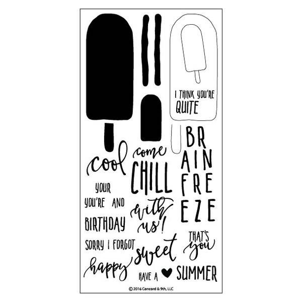 Sweet and Cool Clear Stamp Set