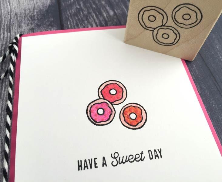5614c - doughnuts rubber stamp