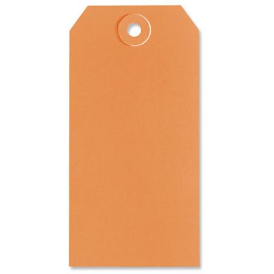 Orange Shipping Tags